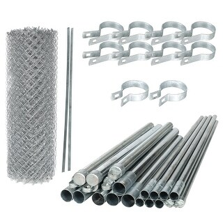 Link to ALEKO Galvanized Steel Chain Link Fence 5X50 Feet Complete Kit Similar Items in Yard Care