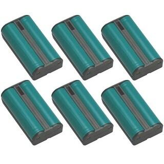 Replacement HHR-P546A Battery for Panasonic KX-TG2217 / KX-TGA510 / KX-TG2215 Phone Models (6 Pack)
