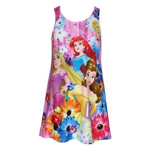 Disney Girl's Princess Cover Up Tank Dress