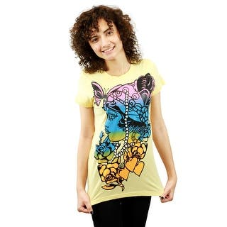 Catwalk Gipsy Women's Yellow T-shirt|https://ak1.ostkcdn.com/images/products/is/images/direct/ccb84602173c93c3d2336da0a9a128ac1aec3045/Catwalk-Gipsy-Women%27s-Yellow-T-shirt.jpg?impolicy=medium