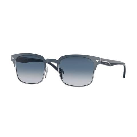 Vogue VO4194S 323S4L 52 Top Blue Matte/silver Man Pillow Sunglasses