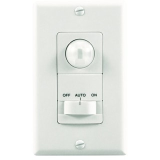 Heath Zenith SL-6113-WH Motion-Activated Wall Light Switch with 5 Minute Timer,