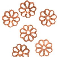 Genuine Copper Open Petal Flower Bead Caps 7mm (50)