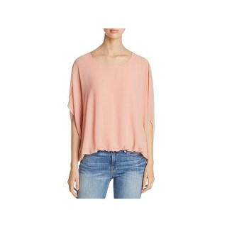Vince Camuto Womens Blouse Chiffon Scoop Neck