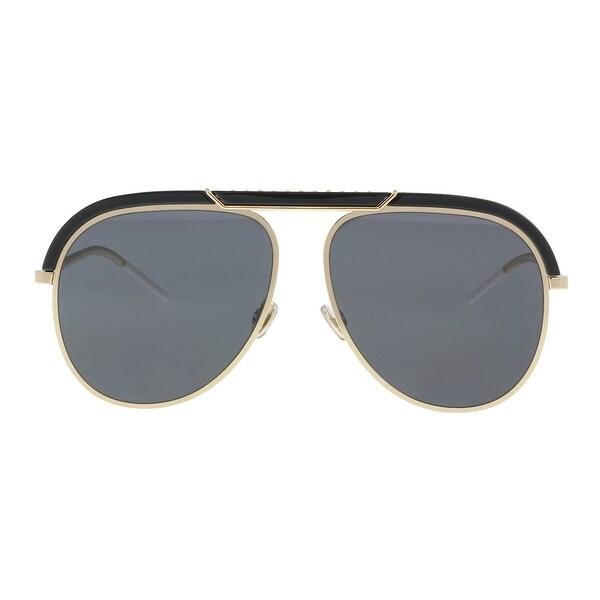 9f89b3aeed6e Christian Dior DIORDESERTIC 02M2/2K Black Gold Aviator Sunglasses -  58-14-145