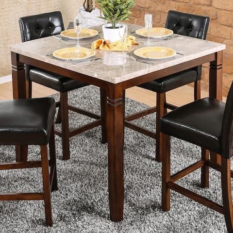 Furniture of America Jald Modern Cherry 42-inch Counter Dining Table