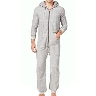 Kenneth Cole Reaction NEW Gray Mens Size Medium M Windowpane Pajama Sets