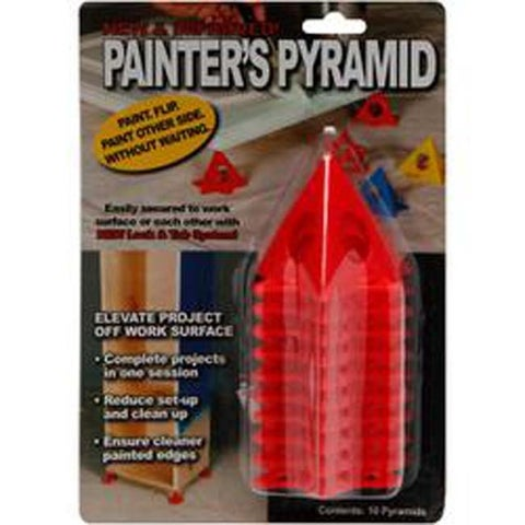 Red - Painter's Pyramid Stands 10/Pkg