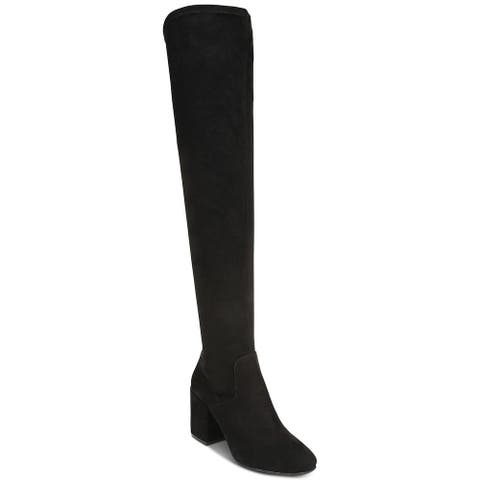 Bar III Womens Gabrie Fabric Pointed Toe Over Knee Fashion Boots