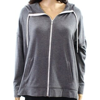 Kensie NEW Gray Womens Size Medium M Full Zip Athletic Hooded Jackets