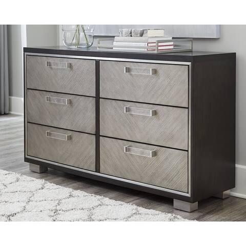 Maretto Espresso Brown/Silver Dresser