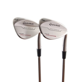 New TaylorMade Tour Preferred Wedges 54* & 58* (ATV Grind) RH w/ Steel Shaft