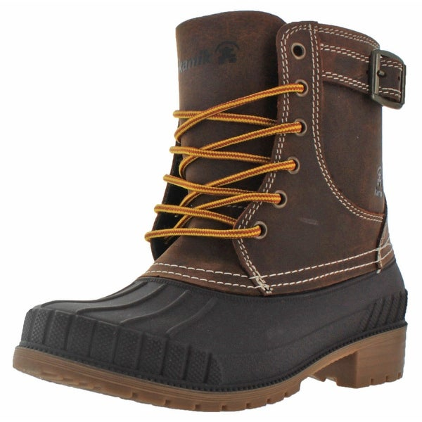 Kamik Evelyn Women's Waterproof Duck Boots Leather Snow