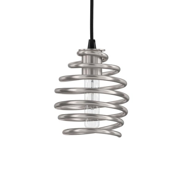 "Park Harbor PHPL5601 6"" Wide Single Light Mini Pendant with Spiral Coil Frame"