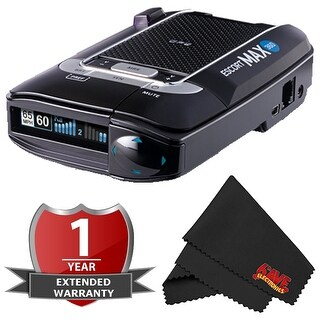 Escort Max 360 Long Range GPS AutoLearn Live App Enabled Laser Radar Detector with 2 Year Warranty