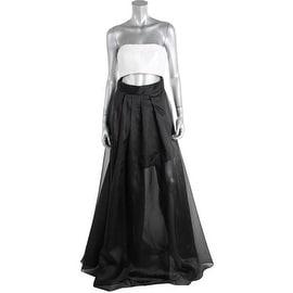 Monique Lhuillier Womens Strapless Full-Length Evening Dress