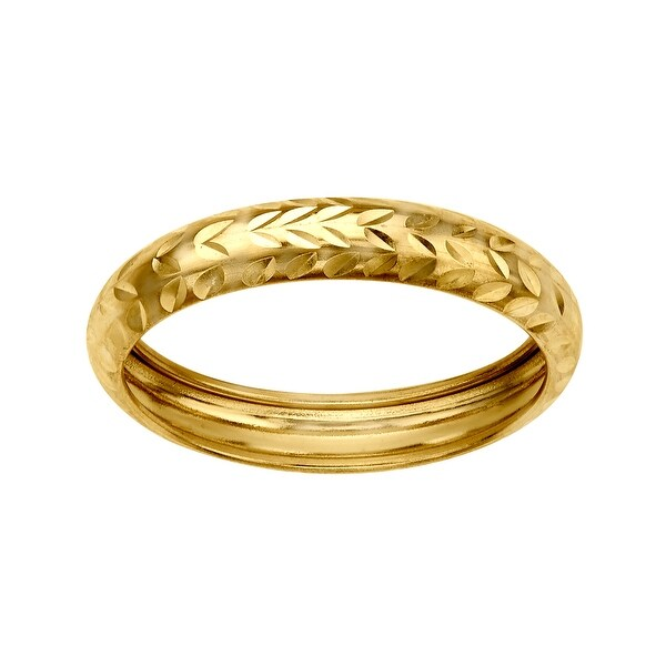Just Gold Vine-Cut Band Ring in 10K Gold - Yellow