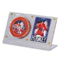 Signed Hockey Puck and Card Holder Acryli Holder safely stores and displays 1 Puck and 1 Card Ultra