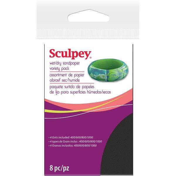 "Sculpey Wet/Dry Sandpaper Variety Pack 8/Pkg-2.75""X4.5"""