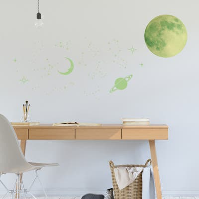 Walplus Glow in Dark Stars Moons Children Wall Sticker Nursery Decor