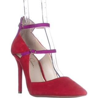 Jessica Simpson Liviana Ankle Strap Pumps, Red Muse