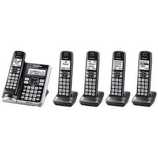 Panasonic KX-TG785SK Link2Cell BluetoothCordless Phone with Voice Assist and Answering Machine - 5 Handsets (Refurbished)