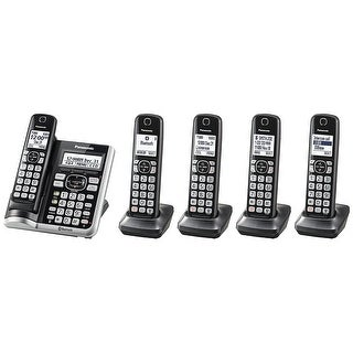 Panasonic KX-TG785SK Link2Cell BluetoothCordless Phone with Voice Assist and Answering Machine - 5 Handsets