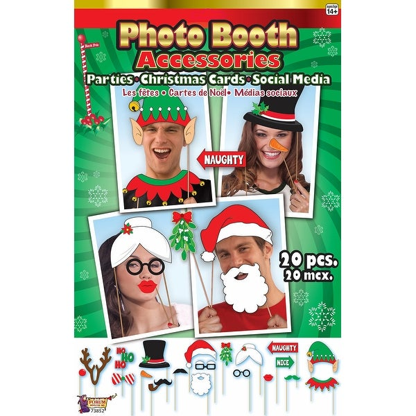 Photo Booth Christmas Card Accessories - multi