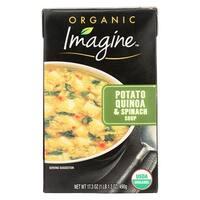 Imagine Foods Spinach Soup - Potato Quinoa - Case of 12 - 17.3 oz.