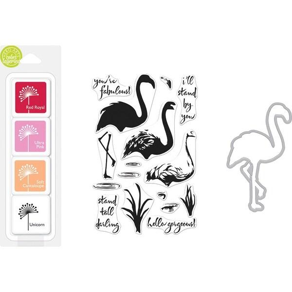 Hero Arts Color Layering Bundle-Flamingo