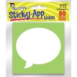 "Apps; Neon - Sticky Notes 3""X3"" 2/Pkg"