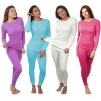 2-Piece Women's Super Soft 100% Cotton Thermal Set (S-2X)