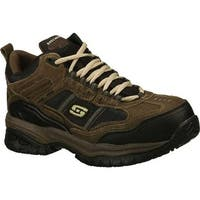 Skechers Men's Work Relaxed Fit Soft Stride Canopy Composite Toe Brown/Black