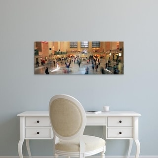 Easy Art Prints Panoramic Image 'Railroad Station, Grand Central Station, Manhattan, NYC, New York City' Canvas Art