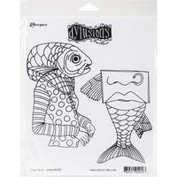 """Dyan Reaveley's Dylusions Cling Stamp Collections 8.5""""X7""""-Fish Face"""