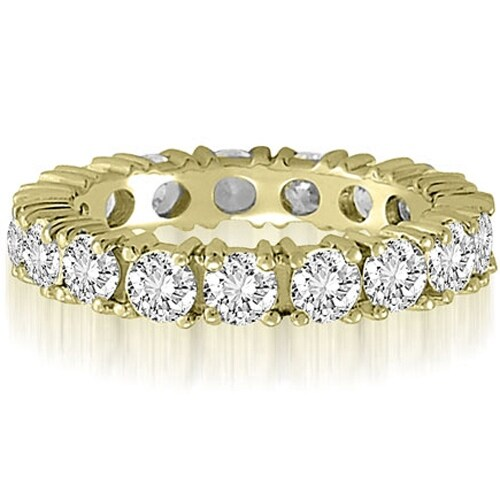2.50 cttw. 14K Yellow Gold Round Cut Diamond Eternity Wedding Band
