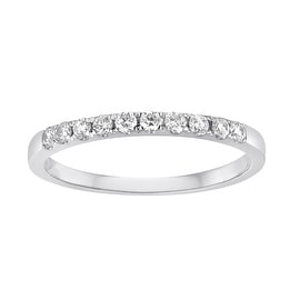 0.25 Carat Round Brilliant Cut Real Diamond Half Eternity Anniversary Ring