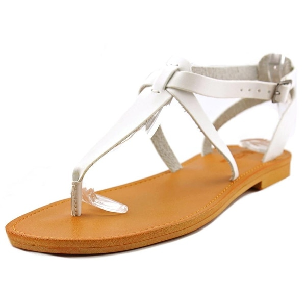 White Mountain Garden Women  Open Toe Synthetic White Thong Sandal