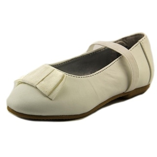 Balleto by Jumping Jacks Samantha Youth Round Toe Leather White Mary Janes
