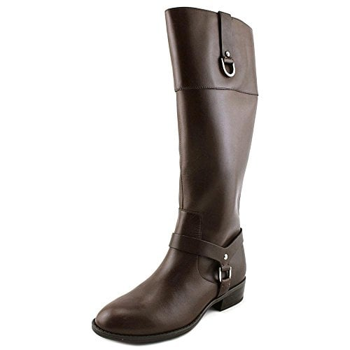 LAUREN by Ralph Lauren Womens Mesa Leather Closed Toe Mid-Calf Fashion Boots