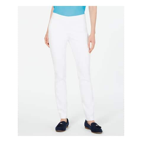 CHARTER CLUB Womens White Solid Pants Size 12