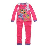 Nickelodeon Girls Pink Shimmer Shine Long Sleeve 2 Pcs Pajama Set