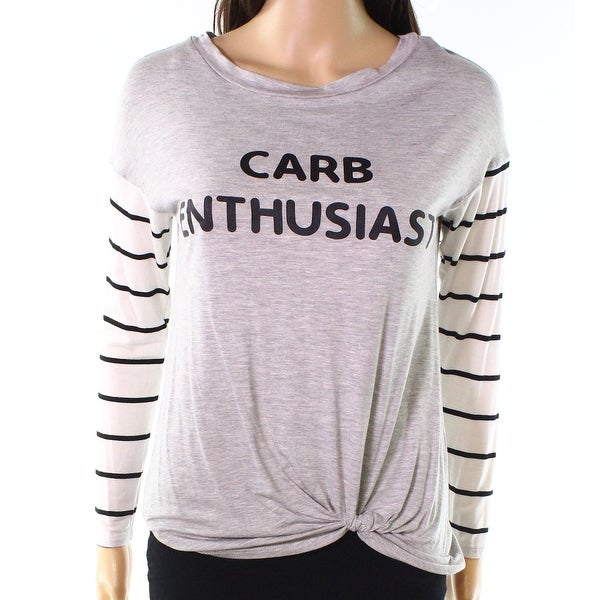 Moa Moa Womens Carb Enthusiast Twist-Detail Knit Top