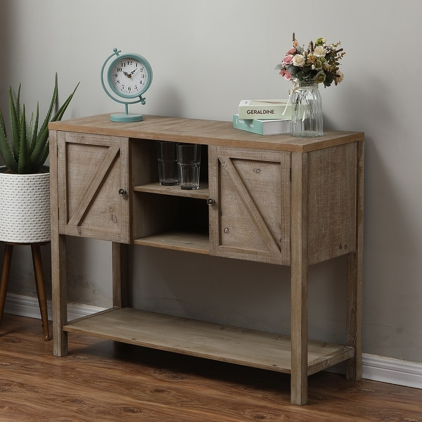 Wood Farmhouse Buffet Storage Cabinet. Opens flyout.