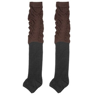 Tight Black Brown Stockings Toeless Warm Thick Socks
