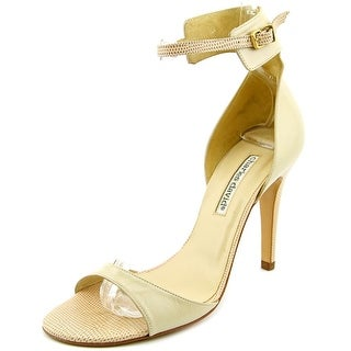 Charles David Zahra Women Open-Toe Leather Heels