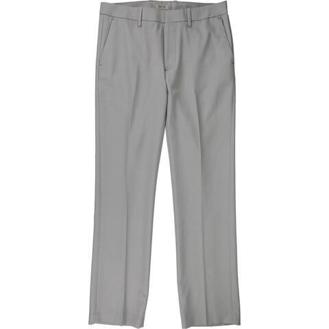 Kenneth Cole Mens Flat Front Dress Pants Slacks, Grey, 32W x 32L - 32W x 32L
