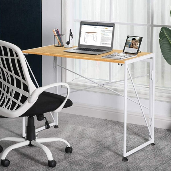 NOVA FURNITURE Folding Home Office Computer Desk for Urban Apartment and Dormitory. Opens flyout.