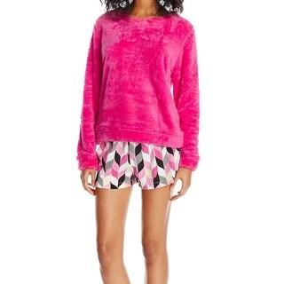 Hue NEW Hot Pink Womens Size Medium M Boxer Pajama Sets Sleepwear