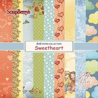 """Scrapberry's Sweetheart Paper Pack 6""""X6"""" 24/Pkg-12 Single-Sided Designs/2 Each"""